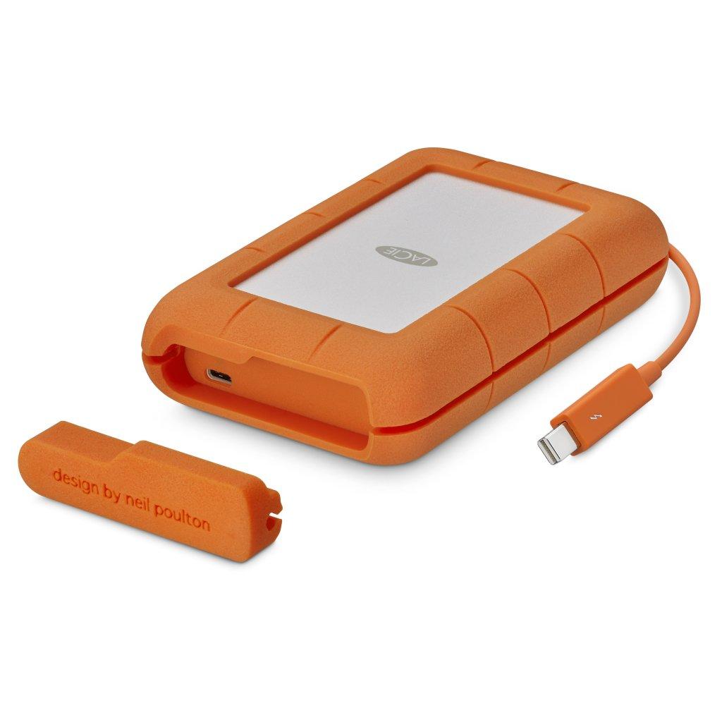 כונן גיבוי חיצוני חזק מאוד,עמיד ברטיבות ואבק Lacie Rugged Thunderbolt Usb-C 500GB SSD