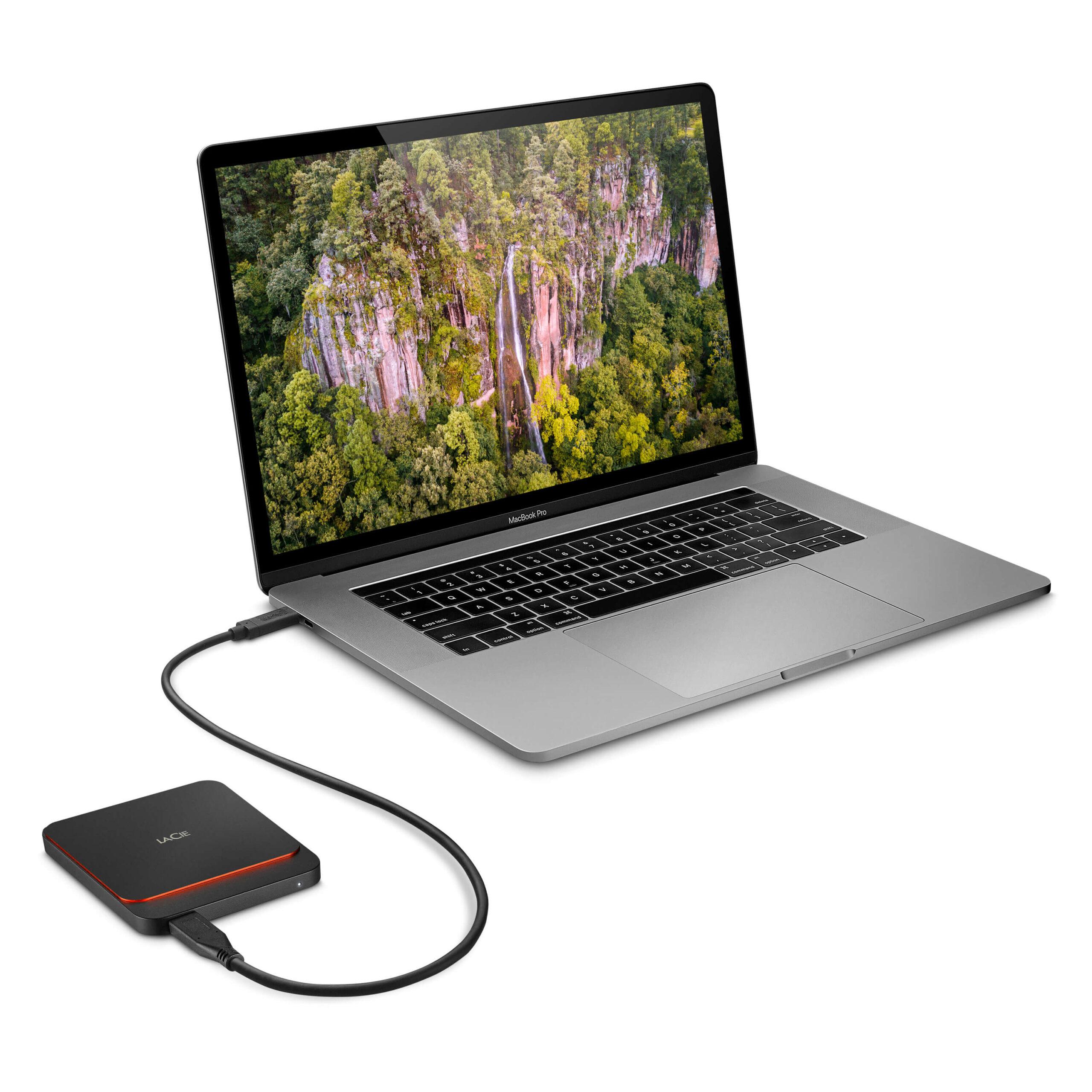 כונן גיבוי חיצוני קטן מהיר ומקצועי Lacie Portable SSD USB-C