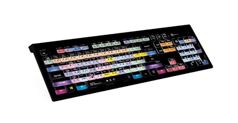 מקלדת עריכה Logickeyboard Adobe After Effects CC – PC ASTRA Backlit