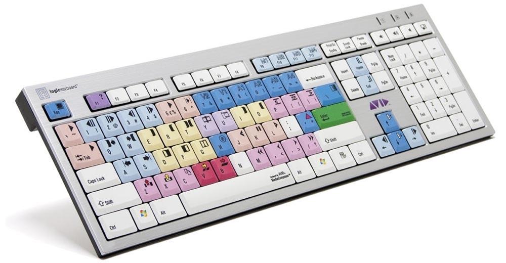 מקלדת עריכה LogicKeyboard Avid Media Composer - PC Wireless