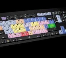 מקלדת עריכה Logickeyboard Avid Media Composer – PC ASTRA Backlit