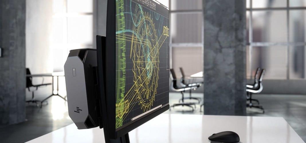 תחנת עבודה מקצועית לאדריכלים, גרפיקאים, עורכי וידאו וסאונד HP Z2 MINI G4