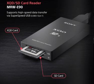 קורא כרטיסי זיכרון SONY MRW-E90 XQD / SD